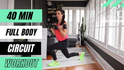 LIVE 40 MIN FULL BODY WORKOUT 6.0 - EQUIP: BODYWEIGHT OPTIONS - LEVEL: INTERMEDIATE by Elise's Bodyshop