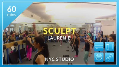 NYC Studio: Sculpt with Lauren June 25th by Physique 57