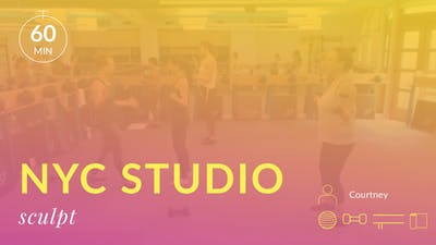 NYC Studio: Sculpt with Courtney August 26th by Physique 57