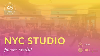 NYC Studio: Power Sculpt Express with Chad October 16th by Physique 57