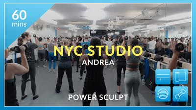 NYC Studio: Power Sculpt with Andrea November 2nd by Physique 57