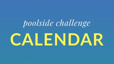 Poolside Challenge Calendar by Physique 57