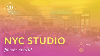 NYC Studio: Power Sculpt with Tanya September 16th by Physique 57