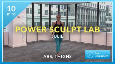 Power Sculpt Lab: Express Cardio with Julie (Abs and Thighs) by Physique 57