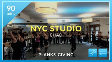 NYC Events: Planks-Giving with Chad and Tanya November 27th by Physique 57