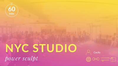 NYC Studio: Power Sculpt with Cecily June 22nd by Physique 57