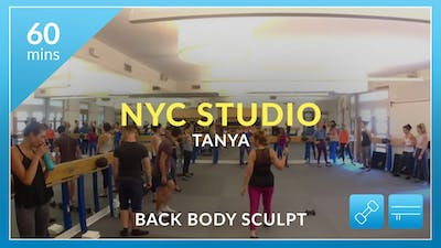 NYC Studio: Back Body Sculpt with Tanya and the NYC Trainers July 9th by Physique 57