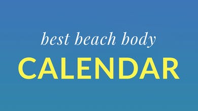 Best Beach Body Calendar by Physique 57