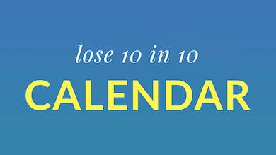 Lose 10 in 10 Calendar by Physique 57
