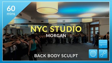 NYC Studio: Back Body Sculpt with Morgan November 24th by Physique 57