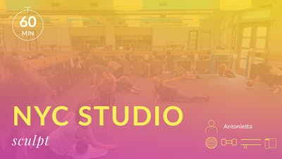 NYC Studio: Sculpt with Antonietta August 16th by Physique 57