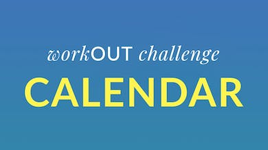 workOUT Challenge Calendar by Physique 57