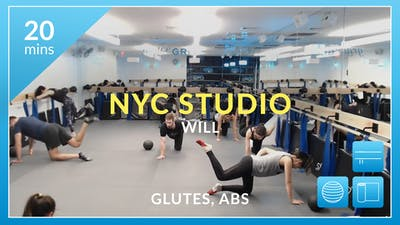 NYC Studio: Glutes and Abs with Will January 9th by Physique 57