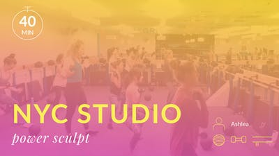 NYC Studio: Power Sculpt with Ashlea October 17th by Physique 57
