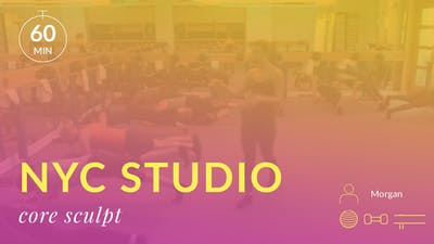 NYC Studio: Core Sculpt with Morgan August 26th by Physique 57