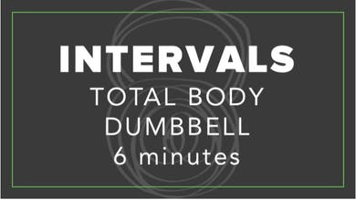 Intervals | Total Body Dumbbell | 6 Minutes by Fhitting Room