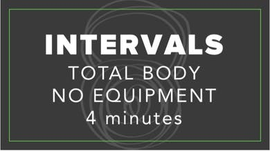 Interval | Total Body No Equipment | 4 Minutes by Fhitting Room