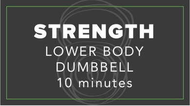 Strength | Lower Body Dumbbell | 10 Minutes by Fhitting Room