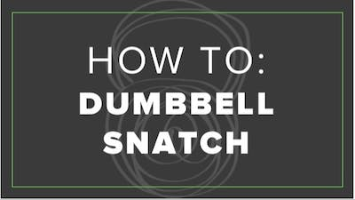 How To: Dumbbell Snatch by Fhitting Room