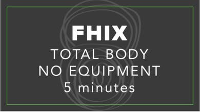 FHIX (Finisher) | Total Body No Equipment | 5 Minutes by Fhitting Room