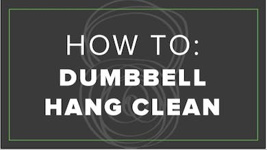 How To: Dumbbell Hang Clean by Fhitting Room