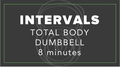 Intervals | Total Body Dumbbell | 8 Minutes by Fhitting Room