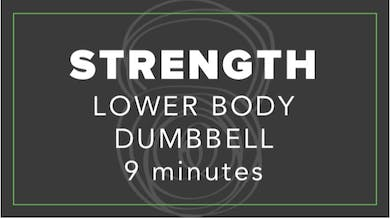 Strength | Lower Body Dumbbell | 9 Minutes by Fhitting Room