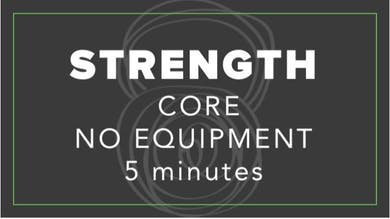 Strength | Core No Equipment | 5 Minutes by Fhitting Room