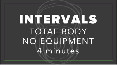 Intervals | Total Body No Equipment | 4 Minutes by Fhitting Room