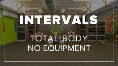 Intervals with Farouk | Total Body No Equipment by Fhitting Room