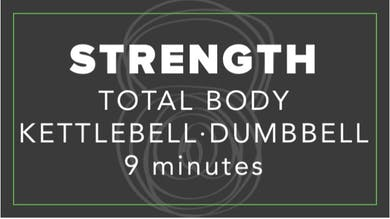 Strength | Total Body Kettlebell Dumbbell | 9 Minutes by Fhitting Room