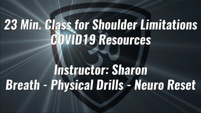 23 Min. Class for Shoulder Limitations COVID19 Resource by Yogashield Yoga For First Responders