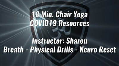 18 Min. Chair Yoga COVID19 Resource by Yogashield Yoga For First Responders