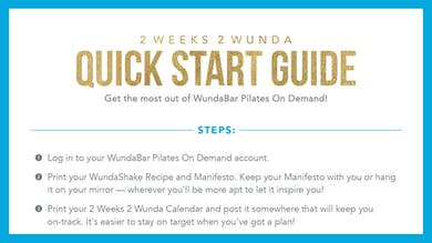 2W2W Quick Start Guide.pdf by WundaBar Pilates