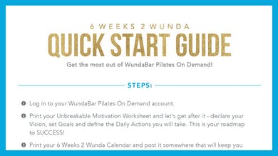 6W2W Quick Start Guide by WundaBar Pilates