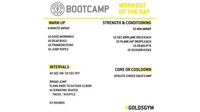 April 28 - BOOTCAMP by Gold's Gym Anywhere