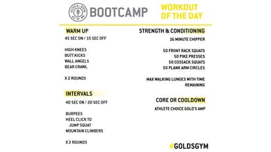 MAY 8 - BOOTCAMP by Gold's Gym Anywhere