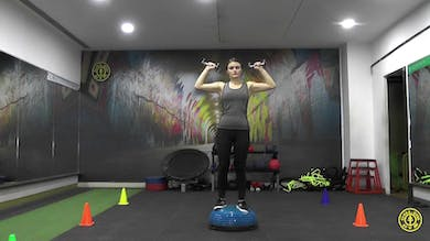 Bosu Ball Over Head Press by Gold's Gym Anywhere