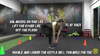 Single Leg Hip Hinge by Gold's Gym Anywhere