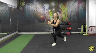 Reverse Lunge to Front Kick by Gold's Gym Anywhere