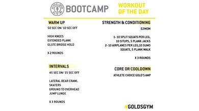 April 20 - BOOTCAMP by Gold's Gym Anywhere
