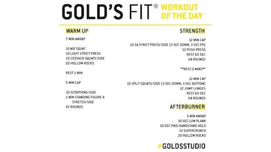 May 25 - GOLD'S FIT by Gold's Gym Anywhere