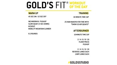 MAY 8 - GOLD'S FIT by Gold's Gym Anywhere