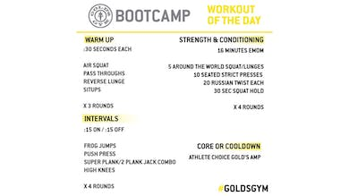 April 6 - BOOTCAMP by Gold's Gym Anywhere