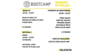 March 26 -  BOOTCAMP by Gold's Gym Anywhere