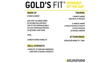 April 29 - GOLD'S FIT by Gold's Gym Anywhere