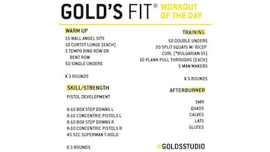 March 25 - GOLD'S FIT by Gold's Gym Anywhere