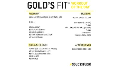 JUNE 11 - GOLD'S FIT by Gold's Gym Anywhere