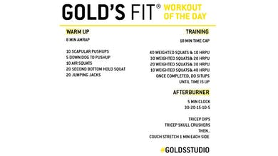 April 24 - GOLD'S FIT by Gold's Gym Anywhere