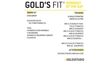 April 13 - GOLD'S FIT by Gold's Gym Anywhere